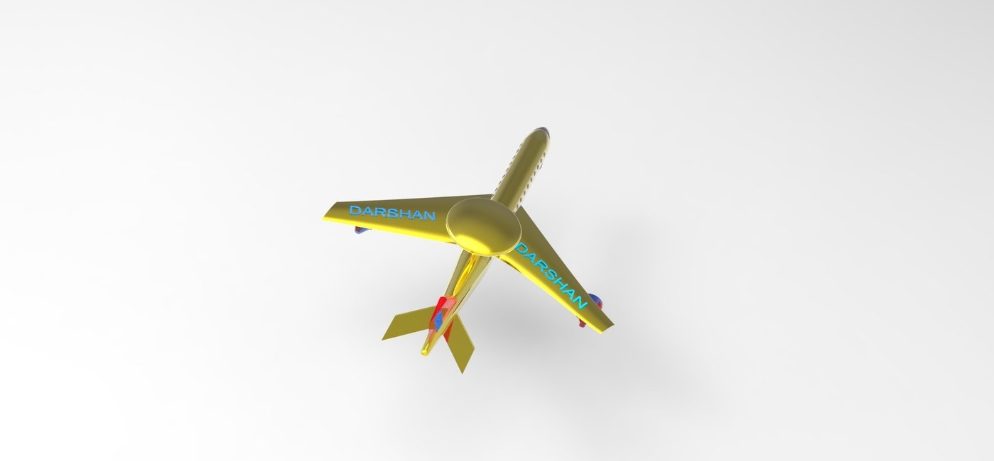 Modelling of Aircraft using UG NX 9 CAD package and key shot