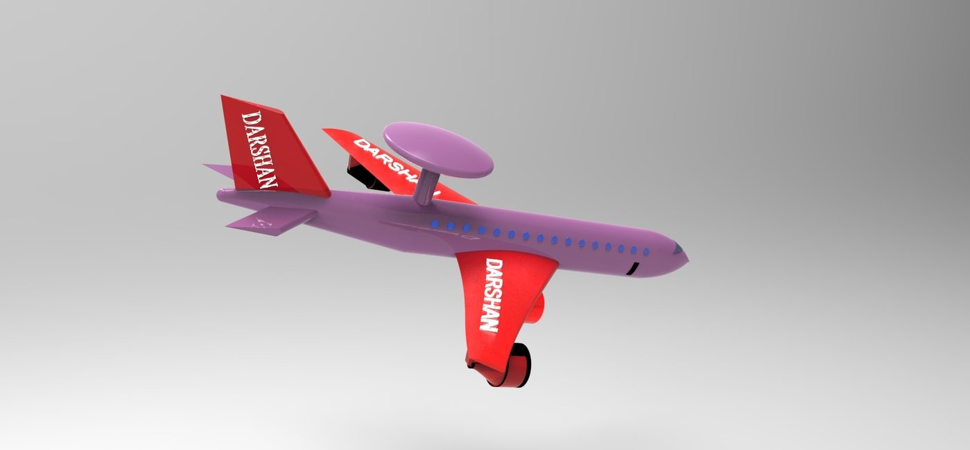 Modelling of Aircraft using UG NX 9 CAD package and key shot by