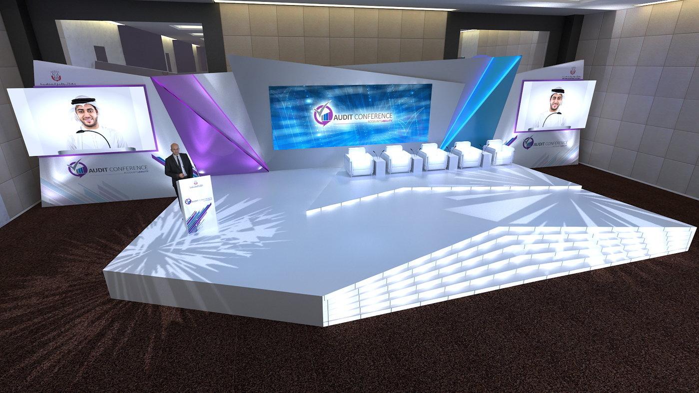 Adaa Conference Stage Setup By Rahul Sharma At Coroflot Com