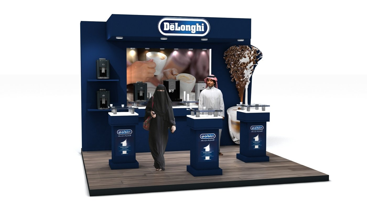 Exhibition Stand Coffee : Delonghi coffee experience exhibition stand by anton mihaylov at