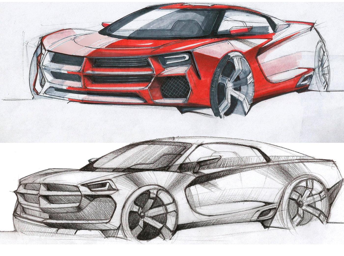 Car Design Sketch By Daniel Chinchilla At Coroflot Com
