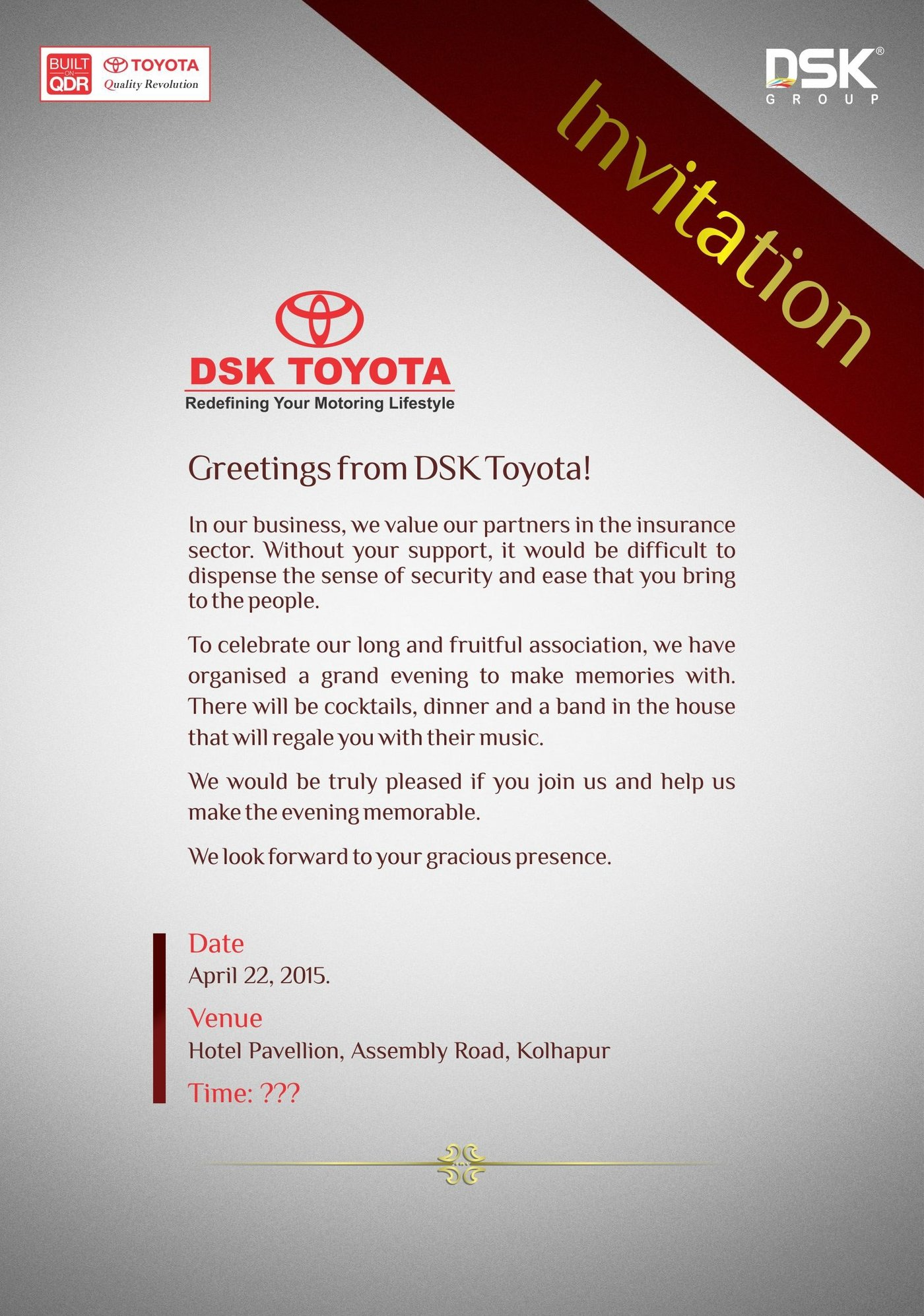 DSK Toyota by Satish Malusare at Coroflot com