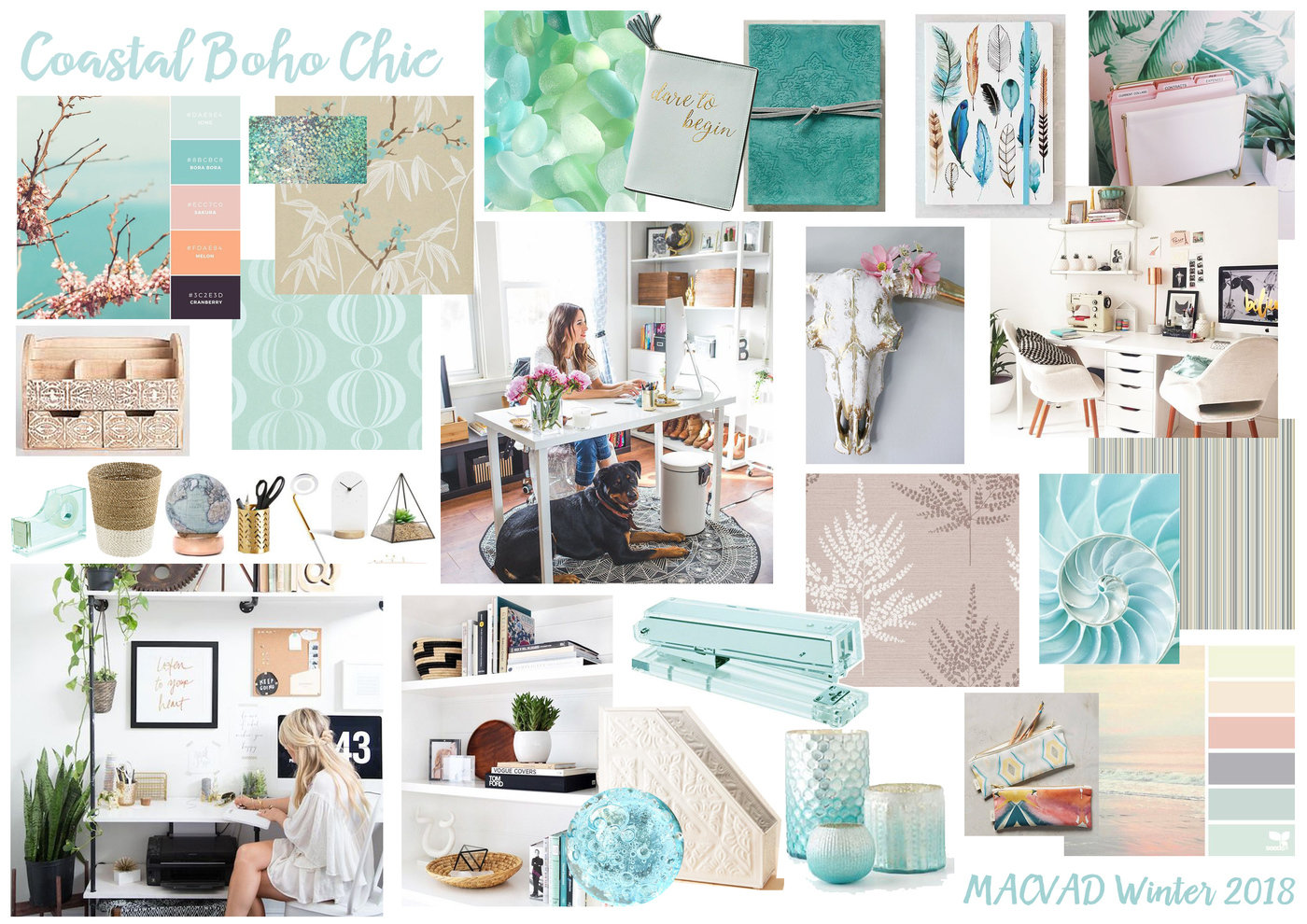 Home Office Stationery Mood Boards - Aldi by Manda Epton at Coroflot.com