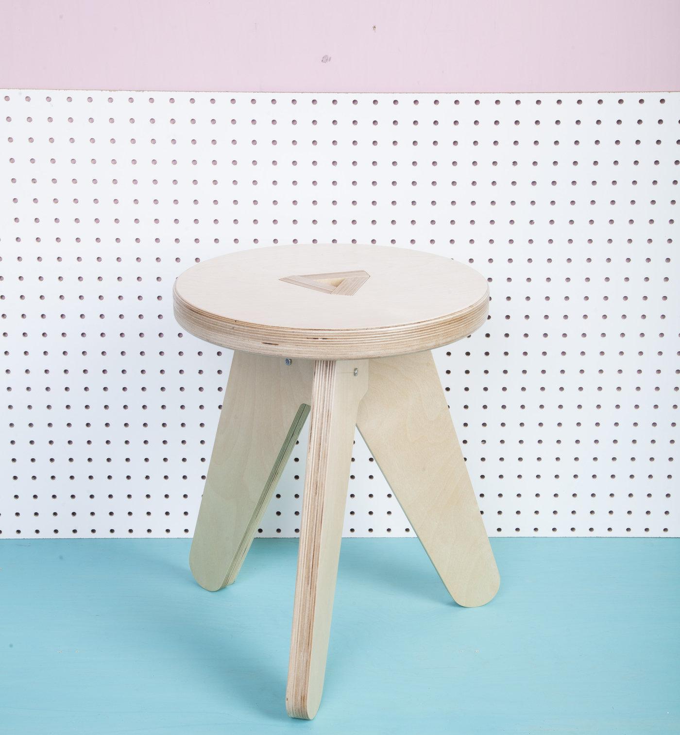 Phenomenal Flat Pack Stool By Andrew Raffel At Coroflot Com Theyellowbook Wood Chair Design Ideas Theyellowbookinfo