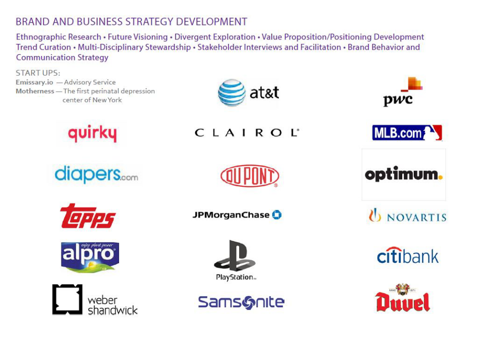 Strategy Clients by Shannon Mullen at Coroflot com