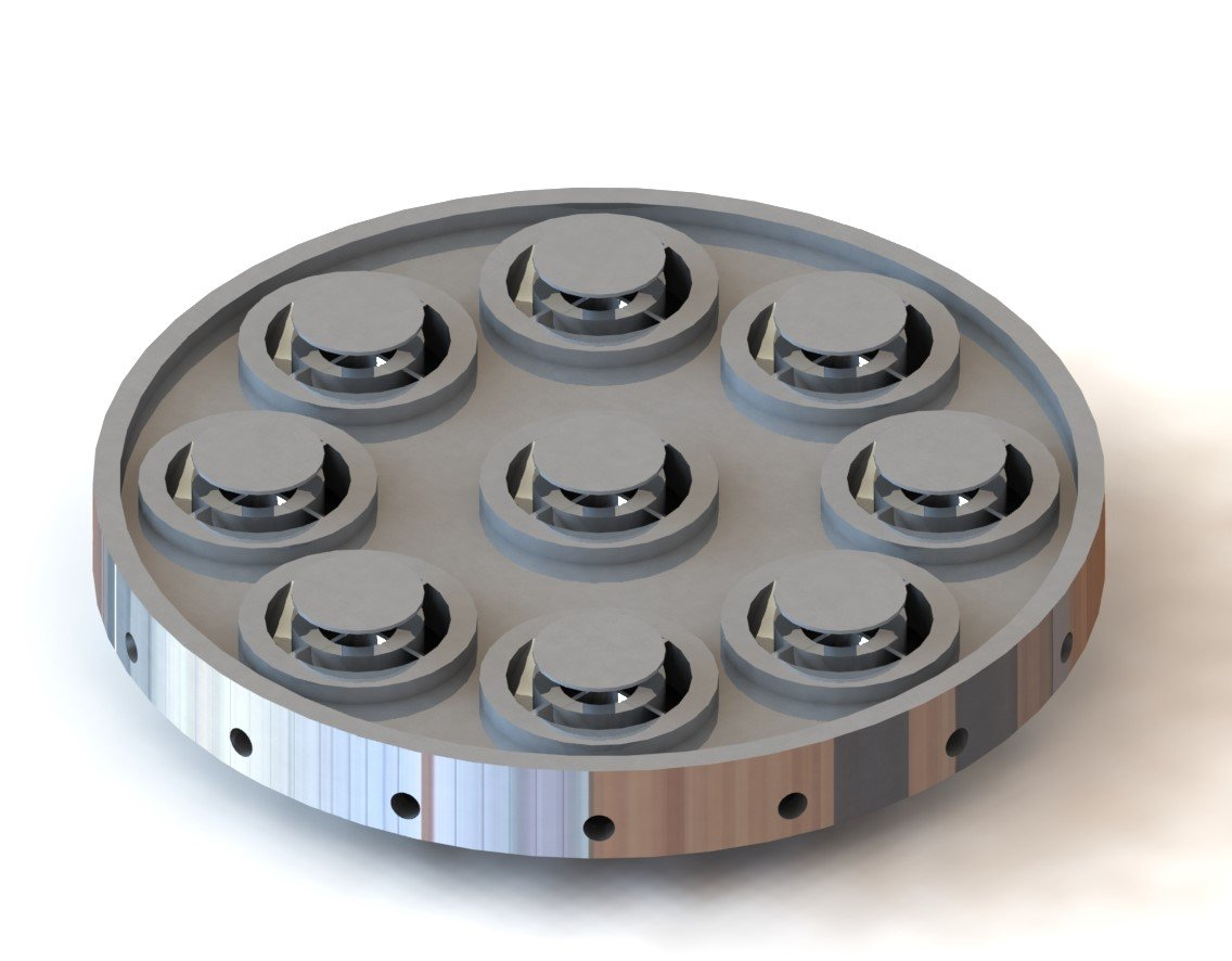 Swirl Induced Pintle Injector Plate Design by Annalisa