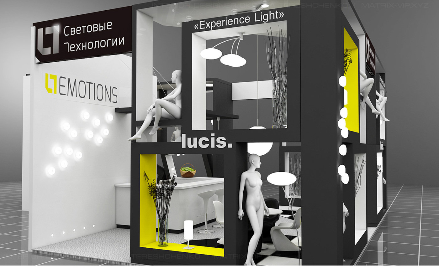 Exhibition Stand Lighting : Exhibition stand of the company lighting technology by oksana