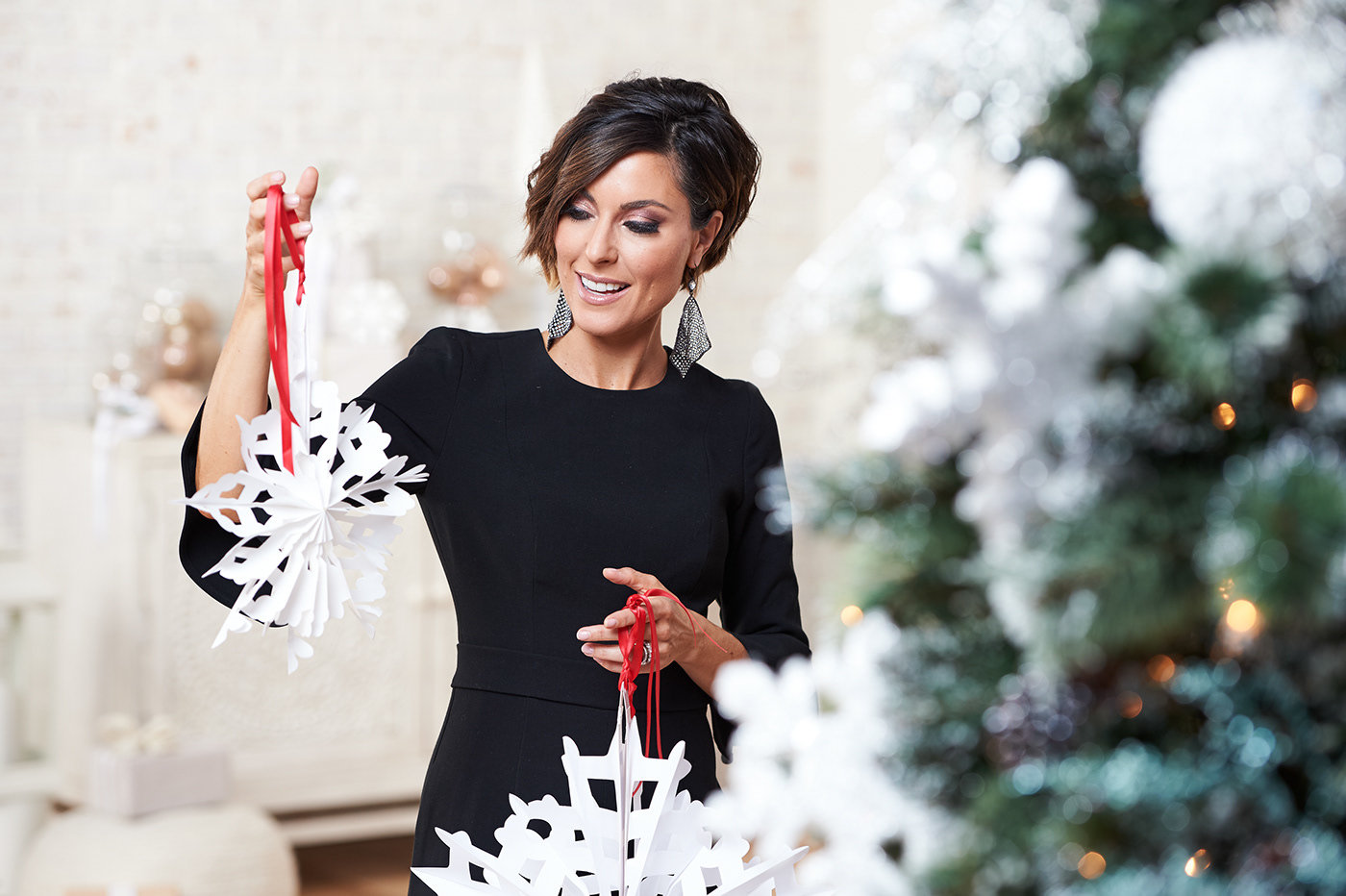 Photoshoot Direction: Xmas QVC Hosts by Stephanie White at