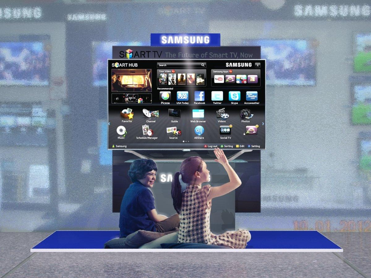 Samsung LED TV Show Window by Rahul Nigam at Coroflot com