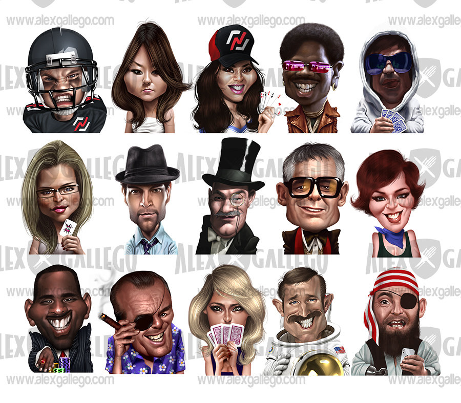 Poker Player Game Avatars By Alex Gallego At Coroflotcom