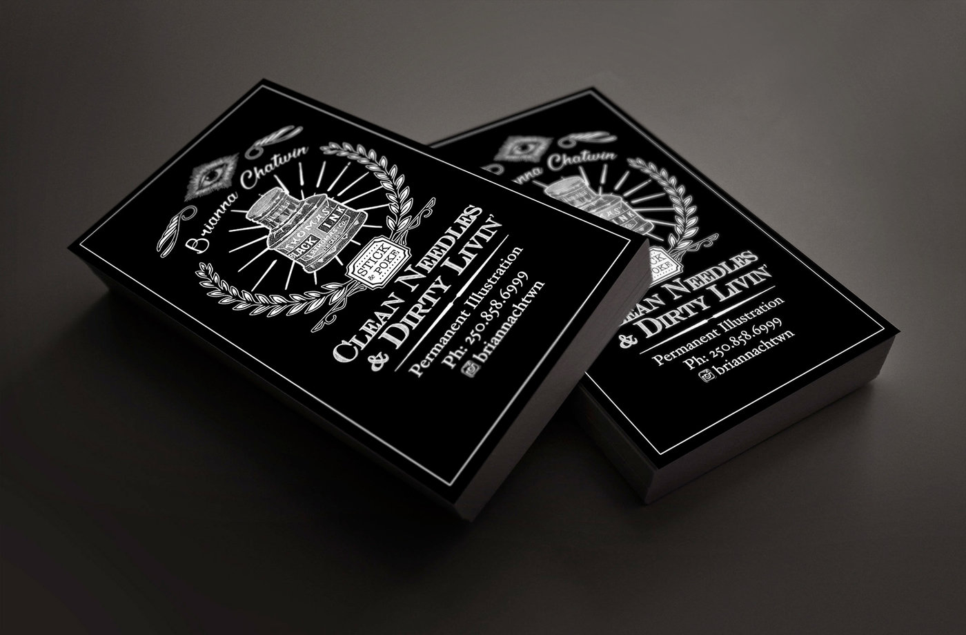 Business Card Design: Brianna Chatwin Tattoo Artist by Jesse