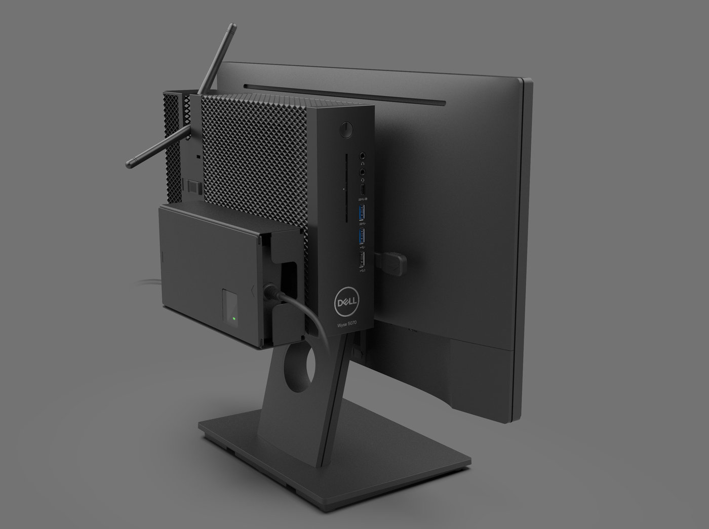 Dell Wyse 5070 and mounting accessories by Sachin Mistry at Coroflot com