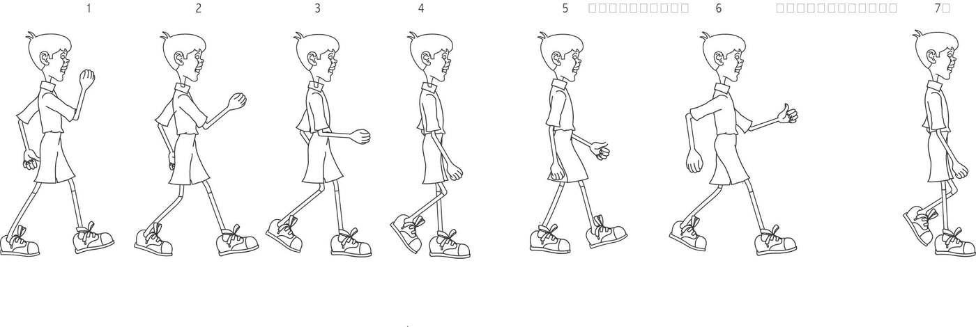 Animation Frame Sequences by Amitava Guha at Coroflot.com