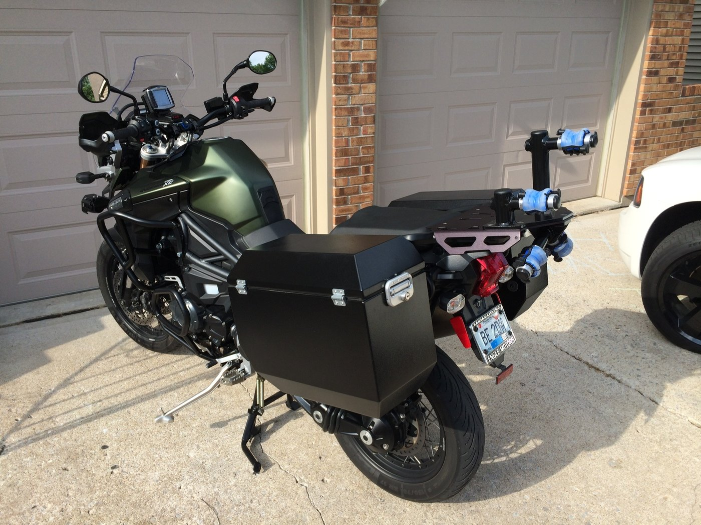 bicycle rack for motorcycle by jamie hall at coroflot com