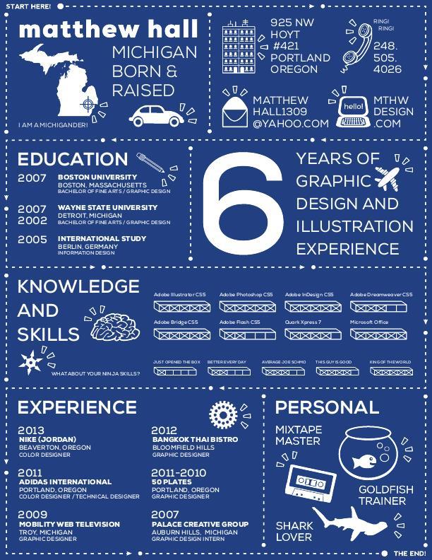 infographic resume by matthew hall at coroflot com