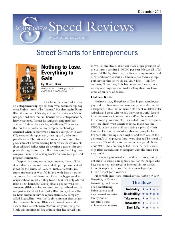 speed reviews speed reviews consisted of a very brief summary of 4 popular business books for soundview executive book summarieshttpwww summarycom