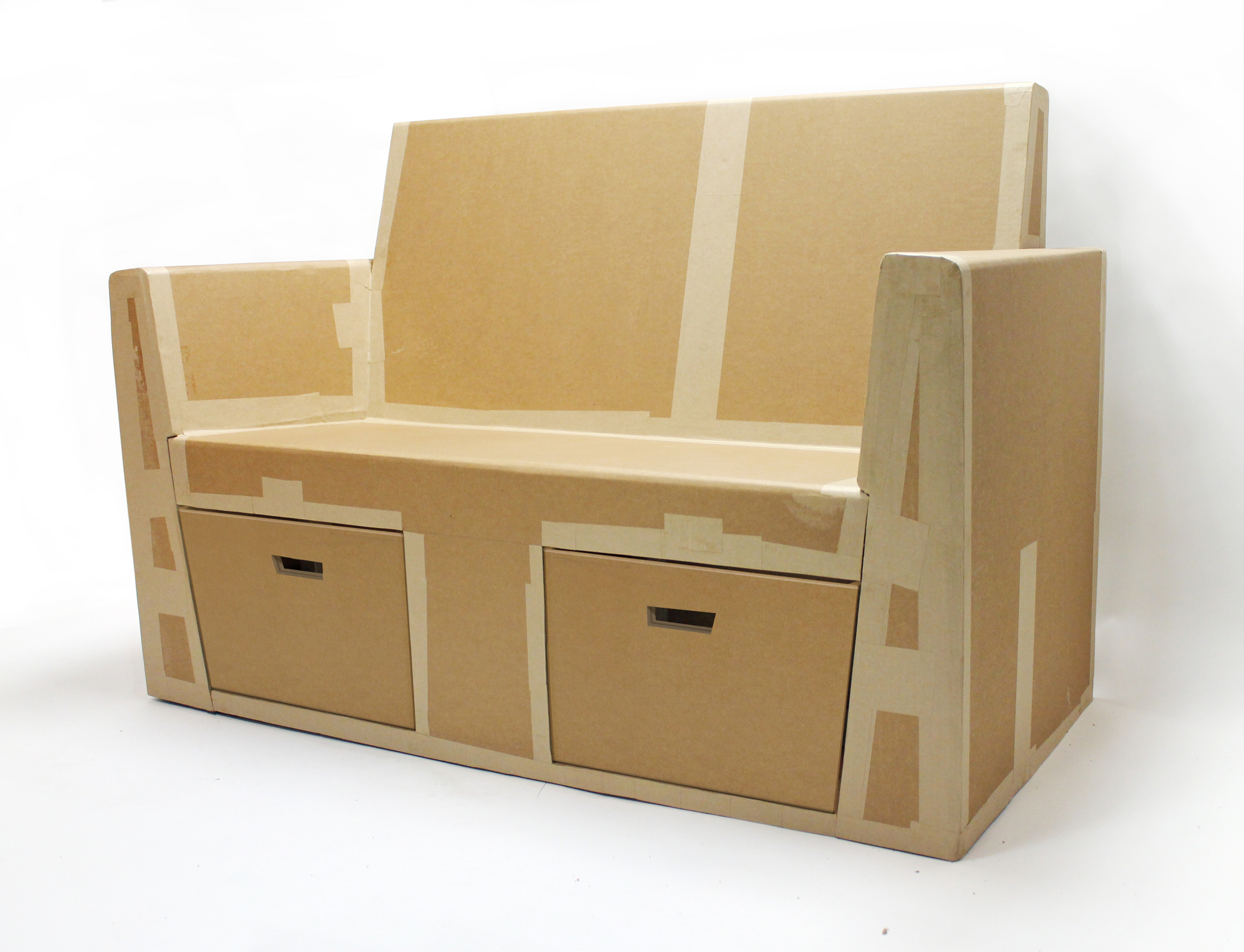 Cardboard furniture techniques how to achieve strength growing up - Cardboard Sofa By Rocio Alonso At Coroflot Com