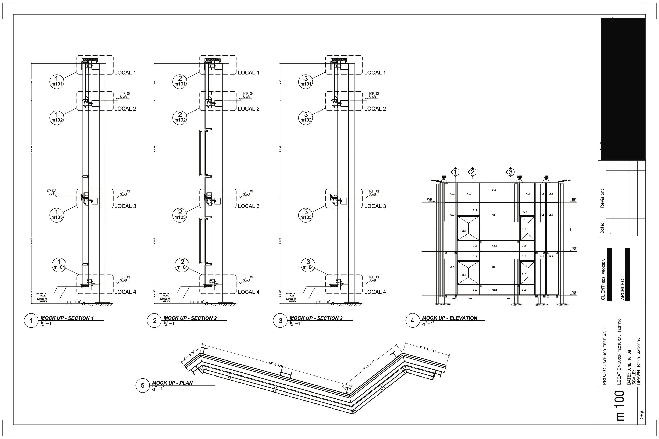 Technical Drawings By Albert B Jackson At Coroflot Com. Curtain Wall Section