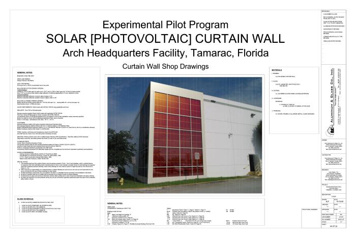 CGI Photovoltaic Curtain Wall by Kaven Thibault at Coroflot com