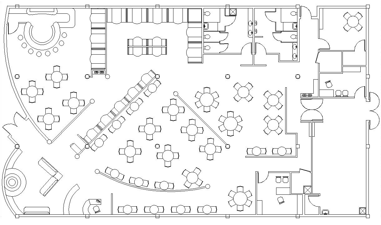 Restaurant Layout Cad Feed Kitchens Electrical Circuit Design Common Drawingsautocad Blockscrazy Seville Floor Autocad Drawings By Christin Menendez At Coroflot