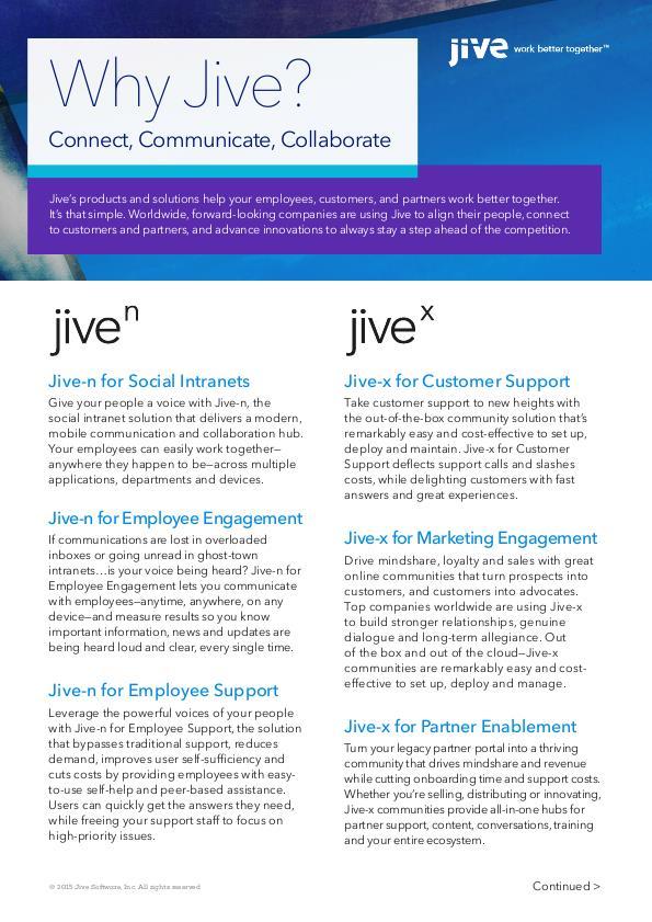 Jive Software by Jennifer Pidgeon at Coroflot com