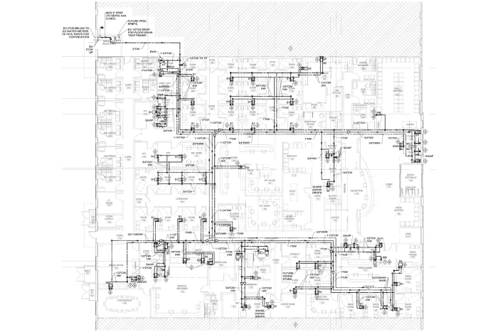 Plumbing   Med    Gas    CAD For Clinic by Daniel German at Coroflot