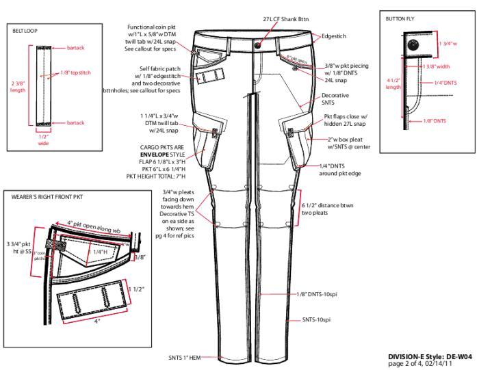 Wo Cargo Pants Tech Pack by Kali Jervis at Coroflot.com