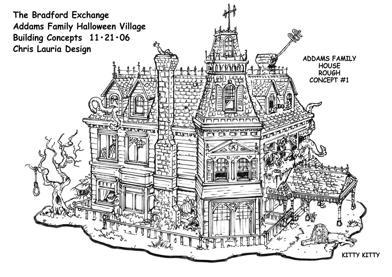 Addams family house floor plans thefloors co for Addams family house floor plan