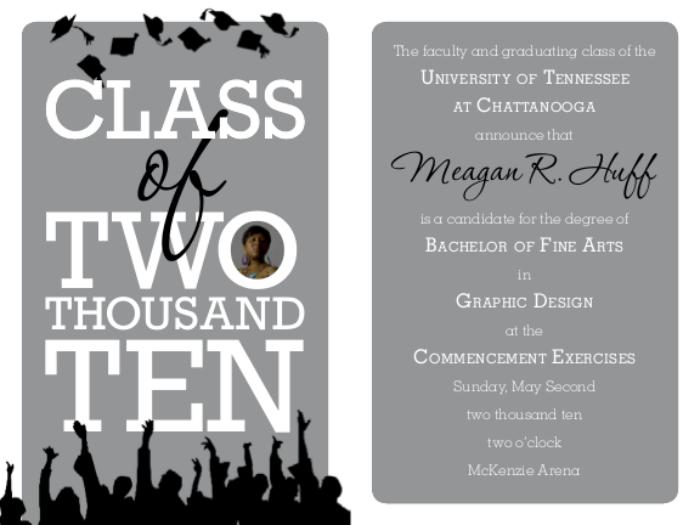 Party graduation invites by meagan huff at coroflot college graduation invitation view pdf stopboris Choice Image