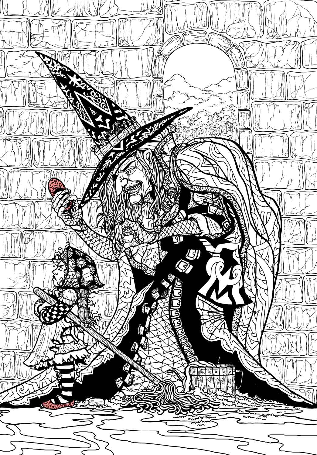 Wizard of Oz Coloring Book by Ethan Mongin at Coroflot.com