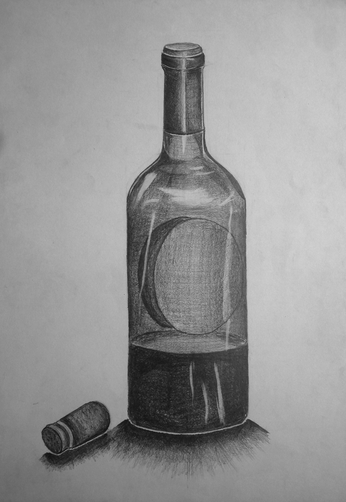 This is an image of Astounding Drawing Of Bottle