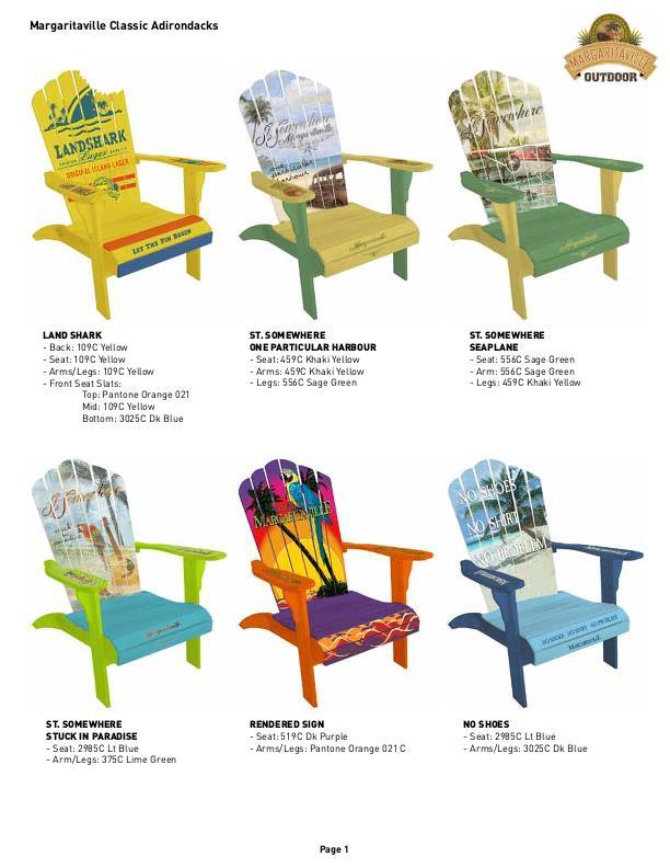 Jimmy Buffett Margaritaville Adirondack Chairs By Marc