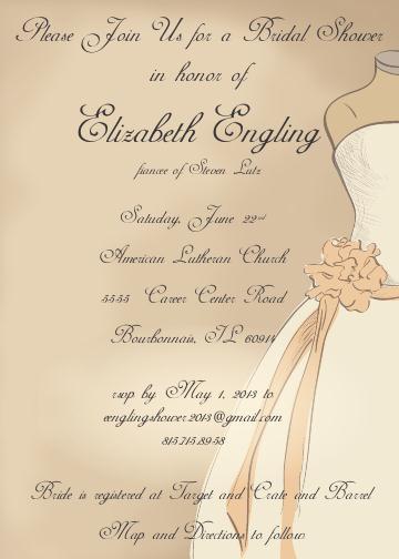 Bridal shower invitation and reminder by megan lutz at coroflot stopboris Choice Image