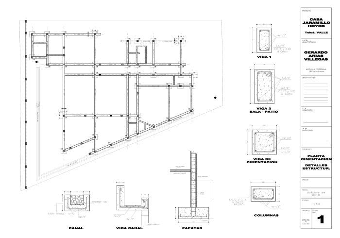 Otros trabajos by diana marcela murillo quintero at for Planos estructurales pdf