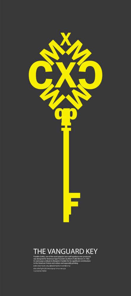 Franklin Gothic Type poster by Akshata Shanbhag at Coroflot com
