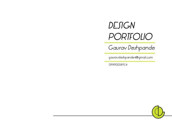 My portfolio pdf by GAURAV DESHPANDE at Coroflot com
