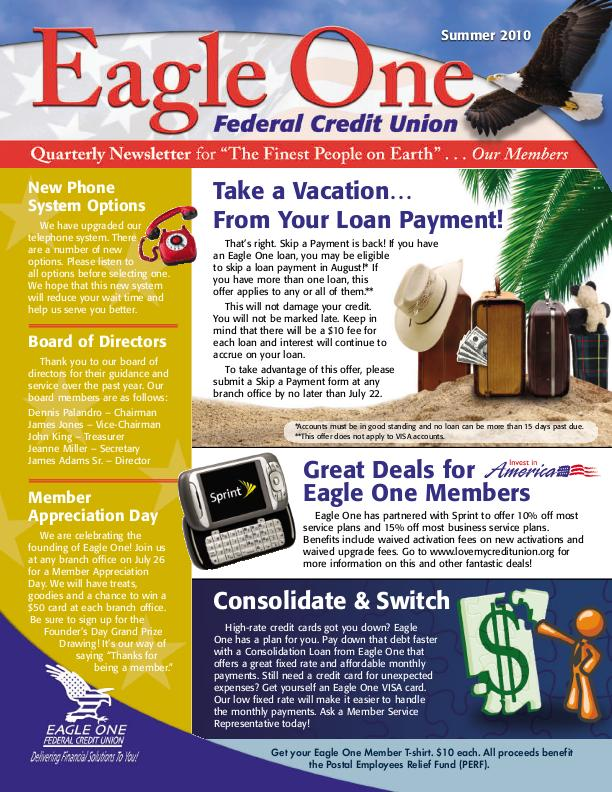 Eagle one federal credit union fax number