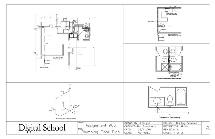 Sample Assignment Works by Laurence Sagert at Coroflot – Plumbing Plan Pdf