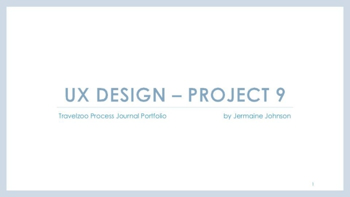 UX Design Process Journal Portfolio by Jermaine Johnson at Coroflot com