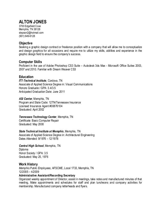 resume by alton jones at coroflot com