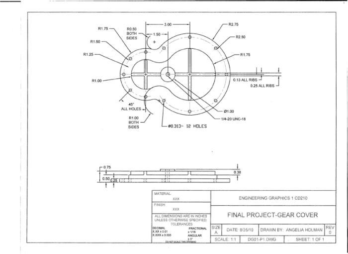 Gear Assembly-AutoCAD by Angelia Watson at Coroflot com