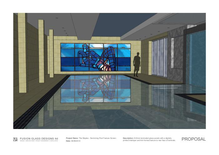 Swimming Pool Feature Glass Wall by Lewis Evans at Coroflot.com