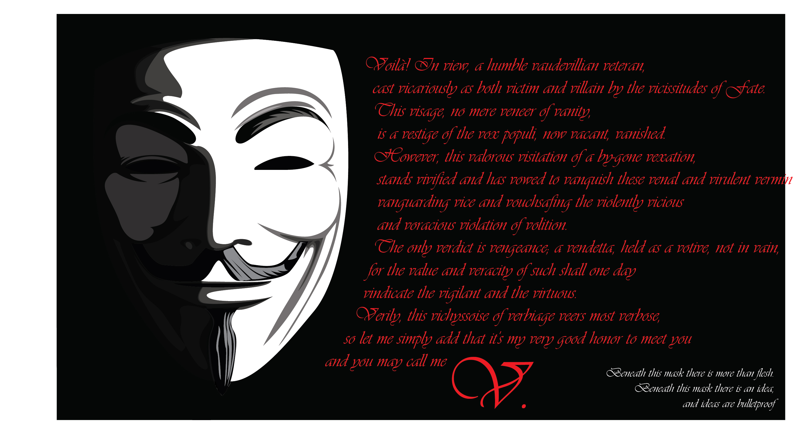 Famous Quotes V For Vendetta