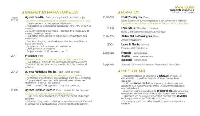 Mon Cv By Marie Tourtier At Coroflot Com