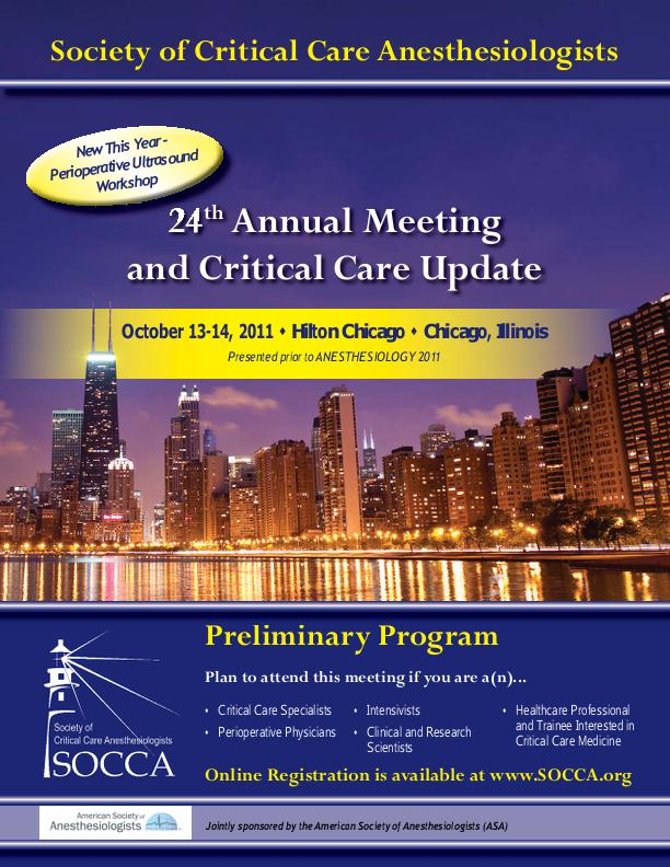 Society of Critical Care Anesthesiologists by Kathleen