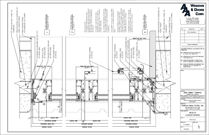 Aluminum Windows And Doors Training Pdf : Windows doors storefronts shop drawings by kiril