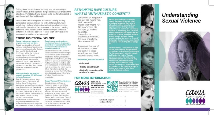 publication sexual violence brochures by jennifer weisgerber at