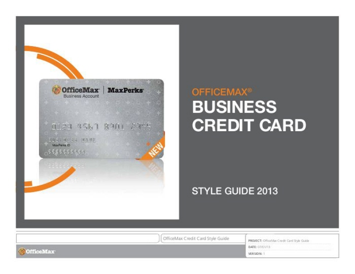 Private brandscredit card by hillary a lichtenstein at coroflot officemax private label credit card style guide colourmoves