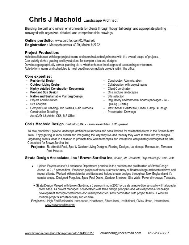 resume and project list by chris j machold at coroflot com