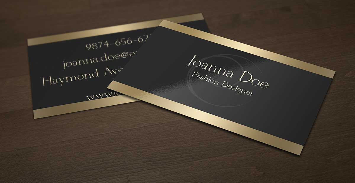 Black and Gold Fashion Designer Business Card Template by ...